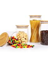 Недорогие -Стекло Высокое качество Прост в применении Хранение продуктов питания 4шт Кухонная организация