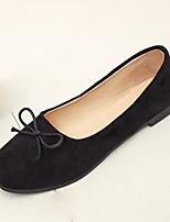 baratos -Mulheres Sapatos Couro Ecológico Primavera Outono Conforto Botas da Moda Rasos Sem Salto Ponta Redonda para Casual Preto Rosa claro