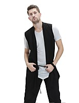 cheap -Latin Dance Vests Men's Performance Spandex Tulle Split Joint Sleeveless Natural Vest