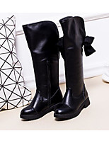 cheap -Girls' Shoes Patent Leather Winter Fall Comfort Fashion Boots Boots Over The Knee Boots for Casual Black
