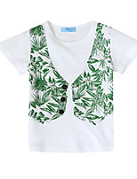 cheap -Boys' Patchwork Tee,Cotton Summer Long Sleeve Vintage Navy Blue White