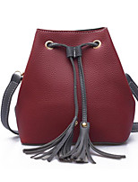 cheap -Women Bags PU Tote Tassel for Casual Outdoor Winter Fall Gray Military Green Red