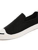 Недорогие -Муж. обувь Резина Весна Осень Удобная обувь Мокасины и Свитер для на открытом воздухе Черный