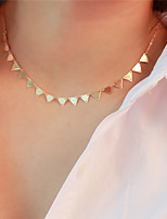 cheap -Women's Triangle Casual Basic Choker Necklace , Copper Choker Necklace , Daily Going out