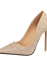 cheap -Women's Shoes Sparkling Glitter PU Spring Comfort Basic Pump Heels High Heel Pointed Toe Closed Toe Rhinestone Sparkling Glitter for