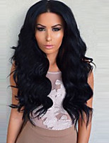 cheap -Women Synthetic Wig Middle Long Black Middle Part  Wavy Capless Synthetic Wig