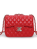 cheap -Women Bags PU Shoulder Bag Buttons for Casual All Season Blushing Pink Red Black Champagne