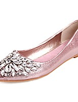 cheap -Women's Shoes PU Spring Fall Comfort Flats Flat for Outdoor Pink Silver Gold