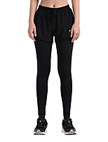 cheap -Women's Running Tights Quick Dry Tights Running Cotton Black L XL XXL