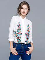 cheap -MAXLINDY Women's Daily Going out Vintage All Seasons ShirtFloral Shirt Collar  Sleeve Linen Thin