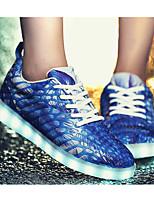 Недорогие -Для мужчин обувь Ткань Весна Осень Удобная обувь Кеды для Повседневные Черный Оранжевый Темно-синий Зеленый