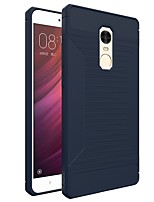 cheap -Case For Xiaomi Redmi Note 4X Frosted Back Cover Solid Color Soft TPU for Xiaomi Redmi Note 4X