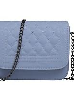 cheap -Women Bags PU Shoulder Bag Buttons for Casual All Season Beige Blushing Pink Silver Black Blue