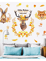 cheap -Abstract Animals Wall Stickers 3D Wall Stickers Decorative Wall Stickers, Paper Home Decoration Wall Decal Wall