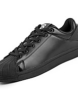 cheap -Men's Shoes PU Spring Fall Comfort Sneakers for Casual Black Silver Black/White
