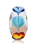 cheap -DIY Jewelry 1 pcs Beads Silver Round Glass Alloy Bead 0.2 cm DIY Bracelet Necklace