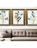 cheap -Floral/Botanical Wall Art,PS Material With Frame For Home Decoration Frame Art Living Room Bedroom