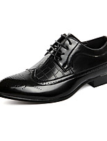 cheap -Men's Shoes Synthetic Microfiber PU Spring Summer Driving Shoes Formal Shoes Oxfords Draping for Casual Office & Career Black Red Blue