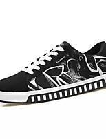 cheap -Men's Shoes PU Spring Fall Comfort Sneakers for Casual Silver Black/Red Black/Blue