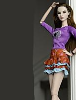 cheap -Bottoms Skirt Tops Top Skirt For Barbie Doll Regency Top Skirt For Girl's Doll Toy