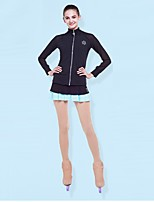 preiswerte -Über die Schlittschuhe reichende Strumpfhosen fürs Eiskunstlaufen Damen Mädchen Eislaufen Leggins Khaki Hochelastisch Eiskunstlaufkleidung