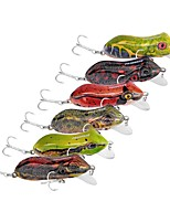 cheap -6 pcs Fishing Lures Frog Hard Bait Plastic Outdoor Sea Fishing Trolling & Boat Fishing Lure Fishing