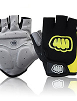 cheap -Sports Gloves Sports Gloves Bike Gloves / Cycling Gloves Wearable Breathable Anti-Shock Skidproof Fingerless Gloves Silicone Nylon