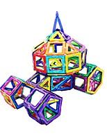 Недорогие -Магнитный конструктор 97 pcs Взаимодействие родителей и детей трансформируемый Игрушки Грузовик Самолёт Квадратный Круглый Автомобиль