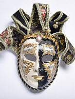 cheap -Carnival Venetian Mask Masquerade Mask Black Metal Cosplay Accessories Masquerade