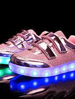 abordables -Fille Chaussures Matières Personnalisées Similicuir Cuir Nubuck Hiver Printemps Chaussures Lumineuses Confort Basket LED Scotch Magique