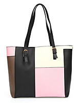 cheap -Women Bags PU Polyester Tote Zipper for Casual All Season Gray Blushing Pink