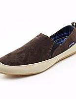 Недорогие -Муж. обувь Ткань Весна Осень Удобная обувь Мокасины и Свитер для Повседневные Коричневый Красный Зеленый Синий