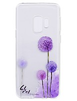 Недорогие -Кейс для Назначение SSamsung Galaxy S9 Plus S9 Прозрачный С узором Задняя крышка одуванчик Мягкий TPU для S9 S9 Plus S8 Plus S8 S7 edge