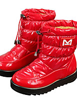 cheap -Girls' Shoes Fabric Winter Fall Comfort Snow Boots Boots Mid-Calf Boots for Casual White Black Red