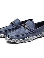 cheap -Men's Shoes Rubber Spring Fall Moccasin Loafers & Slip-Ons for Outdoor Blue Gray Black