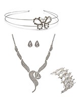 cheap -Women's Headwear Bridal Jewelry Sets Rhinestone Fashion European Wedding Party Imitation Diamond Alloy Fox Body Jewelry 1 Necklace 1