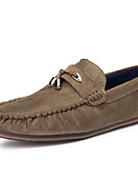 cheap -Men's Shoes Synthetic Microfiber PU Spring Fall Moccasin Loafers & Slip-Ons for Casual Khaki Blue Black
