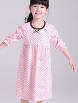 cheap -Girl's Polka Dot Dress,Cotton Summer Short Sleeves Cute Fuchsia Yellow Purple Blushing Pink Blue