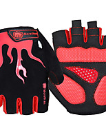 cheap -Sports Gloves Sports Gloves Bike Gloves / Cycling Gloves Wearable Breathable Anti-Shock Skidproof Fingerless Gloves Lycra Mountain