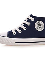 cheap -Girls' Shoes Canvas Spring Fall Comfort Sneakers for Casual Red Dark Blue Black White