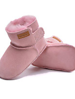 cheap -Girls' Shoes Fur Winter Fall Comfort First Walkers Snow Boots Boots for Casual Almond Pink Coffee Fuchsia Gray