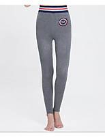preiswerte -Damen Retro Undurchsichtig Baumwolle Solide Einfarbig Legging,Dunkelgray Grau