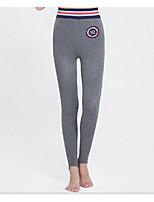 cheap -Women's Retro Cotton Opaque Solid Color Legging,Solid Gray Dark Gray