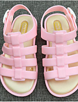 cheap -Girls' Shoes PVC Spring Summer Comfort Jelly Shoes Sandals for Casual Pink Fuchsia Orange Black