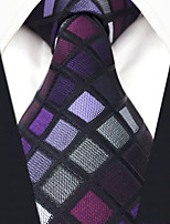 cheap -Silk Necktie,Vintage Work Casual All Seasons Purple
