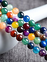 cheap -DIY Jewelry 48 pcs Beads Agate Rainbow Round Bead 0.8 cm DIY Necklace Bracelet