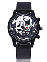 Недорогие -Муж. Модные часы Наручные часы Китайский Кварцевый Крупный циферблат Кожа Группа На каждый день минималист Черный Коричневый Зеленый