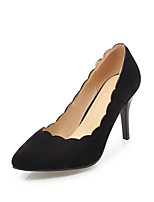 cheap -Women's Shoes Nubuck leather Spring Fall Comfort Heels Stiletto Heel Pointed Toe for Dress Office & Career Black Beige Yellow Pink