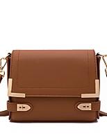 cheap -Women Bags PU Shoulder Bag Zipper for Shopping Office & Career All Season Brown Almond Black