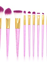 cheap -10 pcs Makeup Brush Set Blush Brush Eyeshadow Brush Lip Brush Eyelash Brush Powder Brush Foundation Brush Nylon Synthetic Hair Others